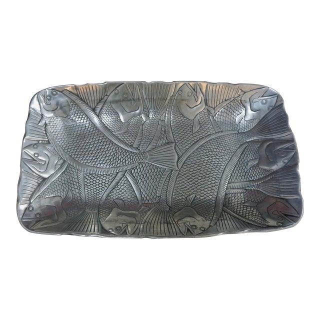 Polished Aluminum Fish Platter by Arthur Court For Sale