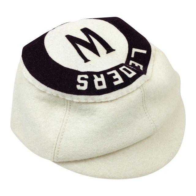 Antique Wool Short Bill Baseball Softball NY Leaders Club Cap - Image 1 of 5