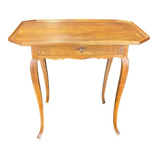 Antique French Louis XV Walnut Side Table With Lovely Raised Gallery For Sale