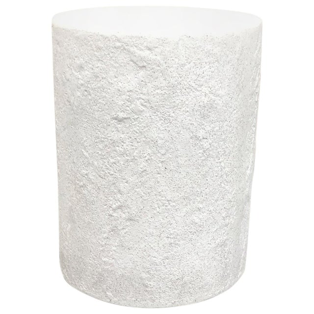 Plastic Cast Resin 'Dock' Stool and Side Table, White Stone Finish by Zachary A. Design For Sale - Image 7 of 7