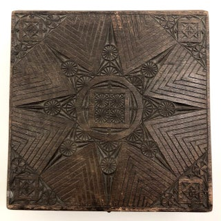 Chip-Carved Dark-Stained Wooden Box Preview