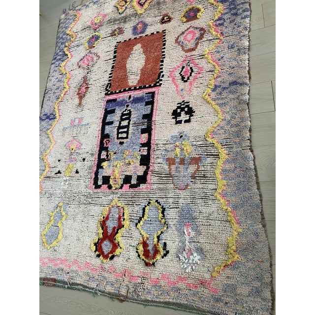 Purple 1970s Vintage Moroccan Rug For Sale - Image 8 of 11
