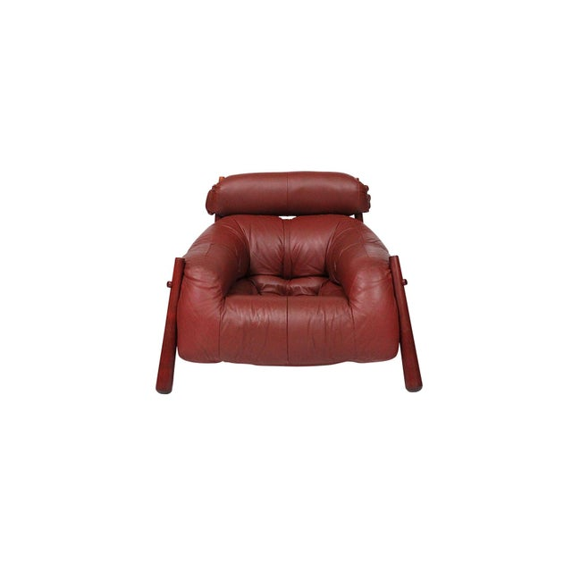 Brazilian Leather Lounge Chair by Percival Lafer For Sale - Image 13 of 13