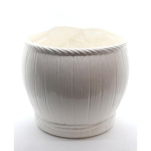 "Majolica Glazed Ceramic Grapevine ""Vineyard"" Cachepot/ Wine Cooler For Sale - Image 4 of 7"