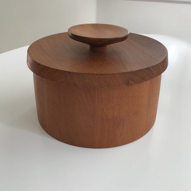 Vintage Dansk Teak Ice Bucket With Lid - Image 2 of 9