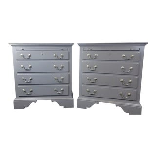 Transitional Kincaid Four Drawer Bachelor Chests - a Pair For Sale