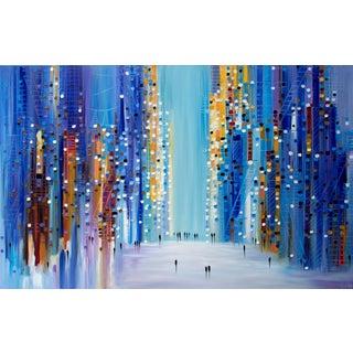 """Cityscape 2018"" Original Oil Painting by Ekaterina Ermilkina For Sale"