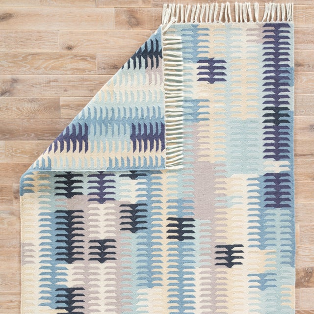 Jaipur Living Carver Indoor/ Outdoor Abstract Blue/ Gray Area Rug - 8' X 10' For Sale - Image 4 of 6