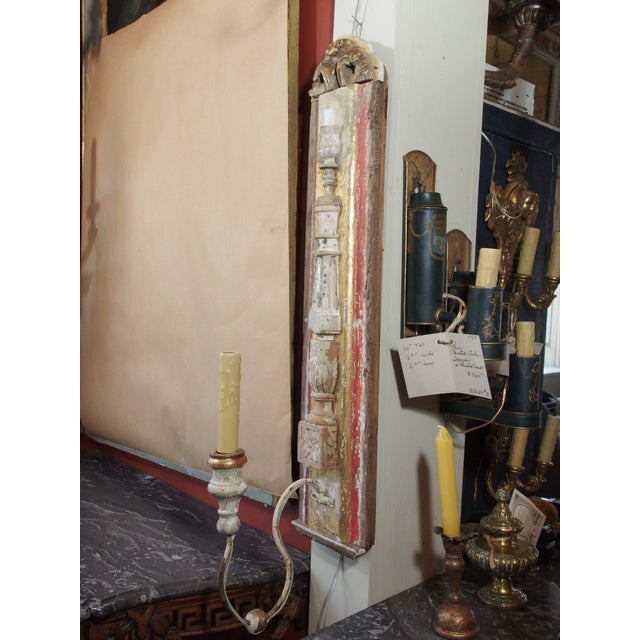 Iron Pair of Architectural Sconces For Sale - Image 7 of 7