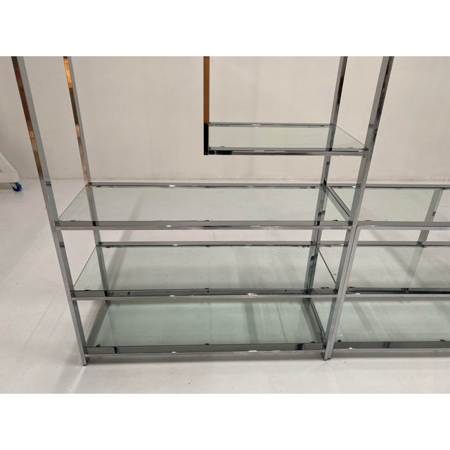 1970s Milo Baughman Style Chrome Etagere For Sale In Chicago - Image 6 of 13