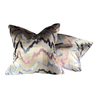 Custom Donghia Down Pillows - A Pair