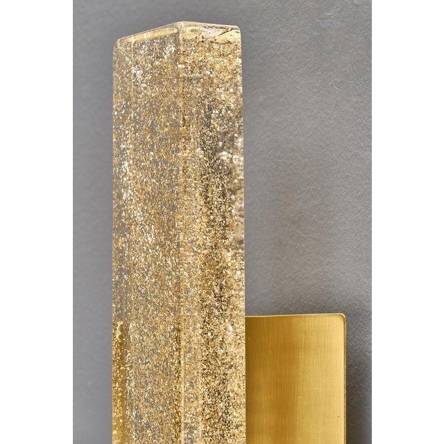 Murano Glass Modern Slab Sconces For Sale - Image 4 of 11