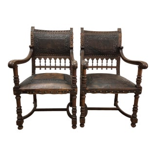 Walnut French Chairs - A Pair