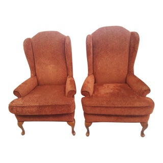 Vintage Wing Chairs - a Pair For Sale