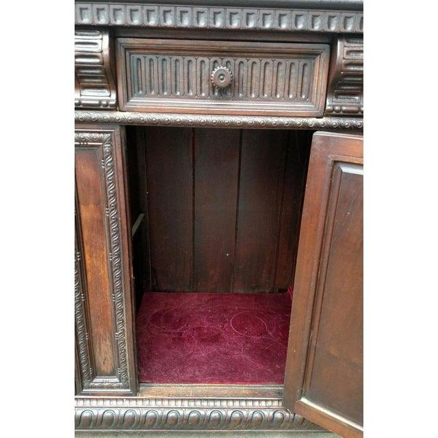 19th C. Renaissance Revival Figural Carved 3 Door Sideboard Server - Image 7 of 10