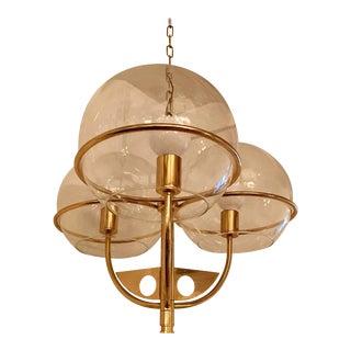 Italian 1970 High Style Brass Pendant For Sale