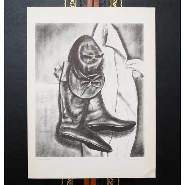 """Lithograph 1939 """"Jockey Clothes"""" by Lee Townsend, Original Period Lithograph For Sale - Image 7 of 11"""