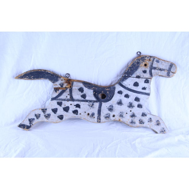 Folk Art 20th Century Folk Art Hanging Horse For Sale - Image 3 of 3