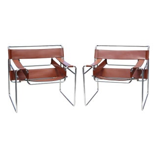 Mid-Century Wassily Chairs by Marcel Breuer for Stendig - a Pair