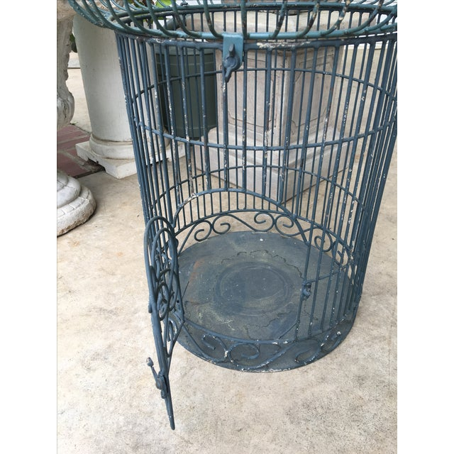 1960s Vintage Bird Cage Planter For Sale - Image 5 of 6