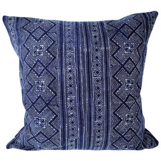 Hmong Cross Pattern Batik Handmade Pillow Cover For Sale