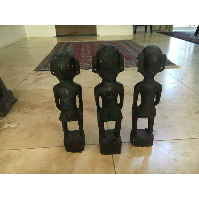 Balinese Wooden Figurines - Set of 7 - Image 8 of 11