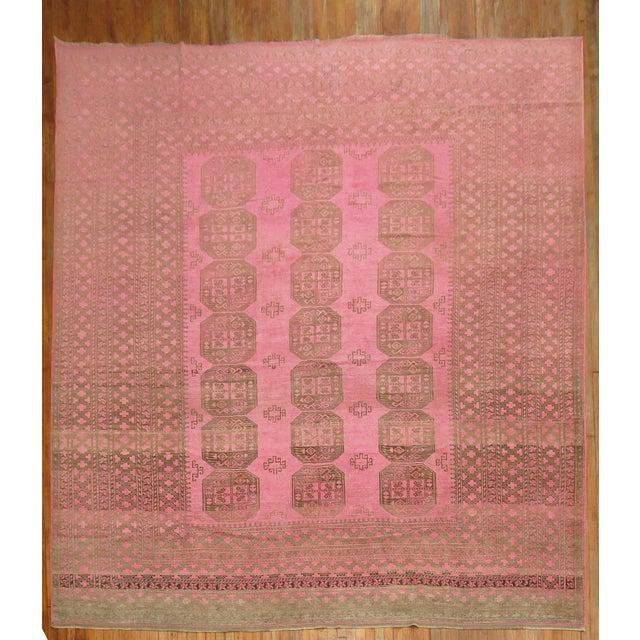 Wild Pink Vintage Tribal Rug, 10'10'' X 13'5'' For Sale - Image 11 of 11