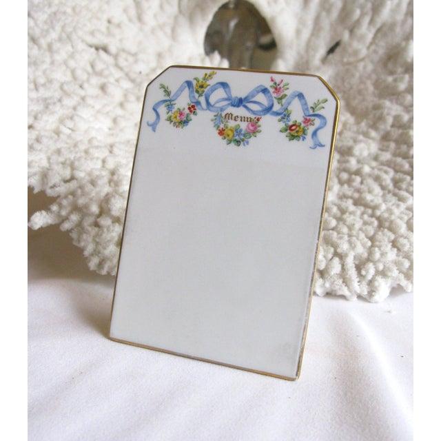 Antique English Copeland Spode Menu Board - Image 6 of 6