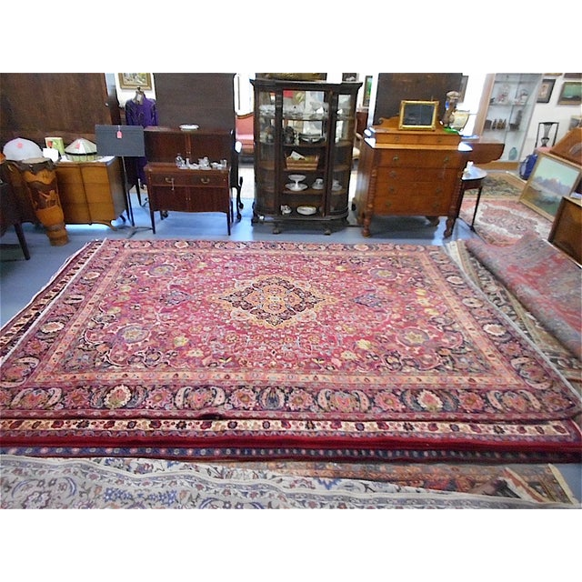 Semi Antique Persian Medallion Rug - 9' x 12' - Image 3 of 10