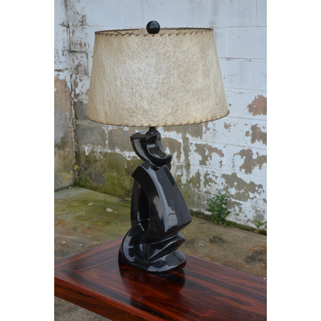 1950s Abstract Ceramic Table Lamp For Sale - Image 10 of 13