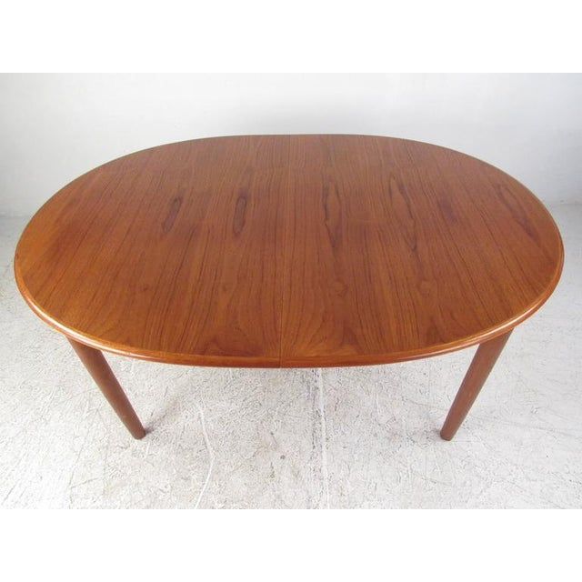 Brown Mid-Century Modern Danish Teak Dining Table & Model 11 Moller Dining Chairs For Sale - Image 8 of 10