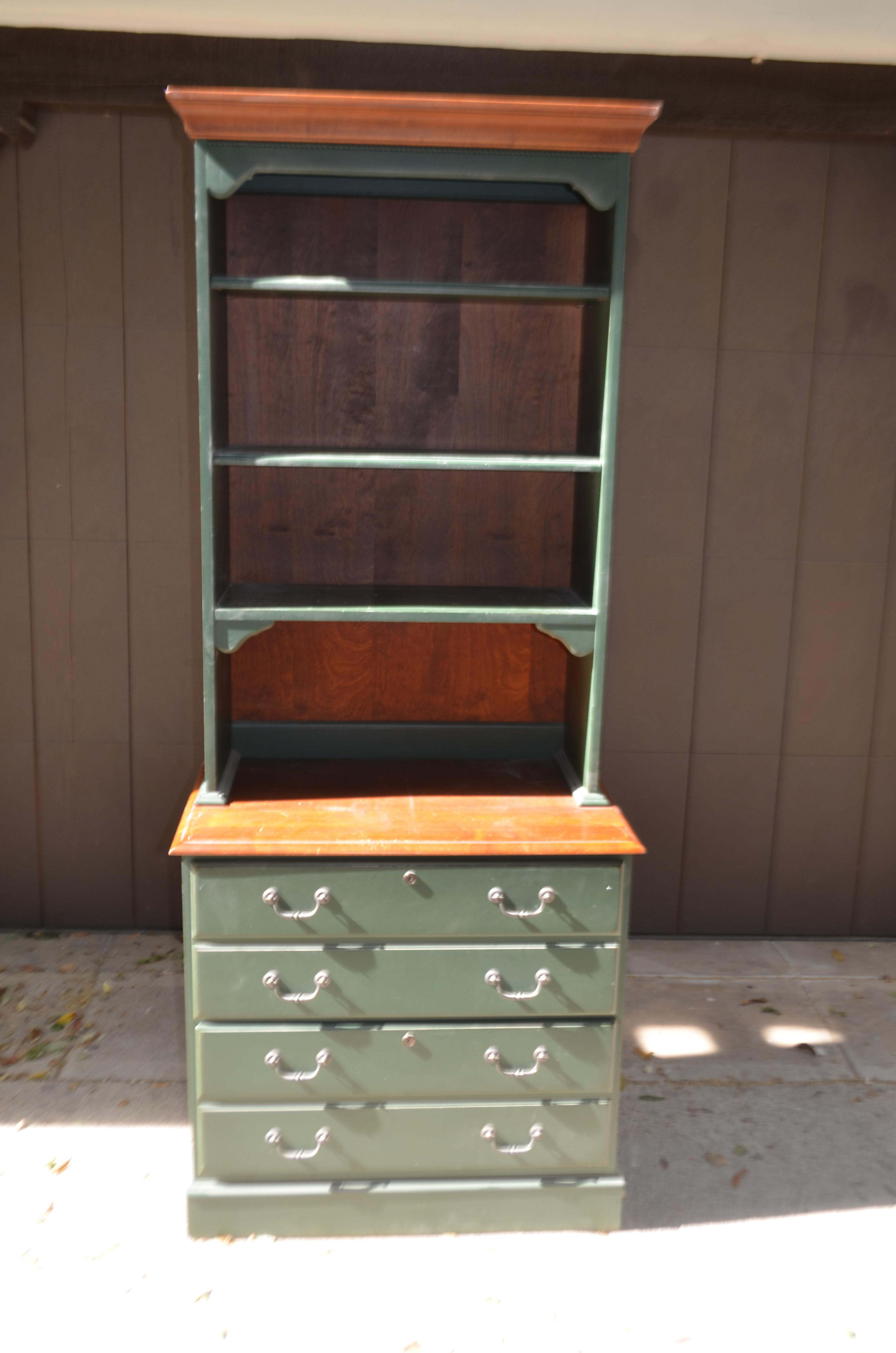 Ethan Allen Country Crossings File Cabinet With Hutch   A Pair   Image 2 Of  5