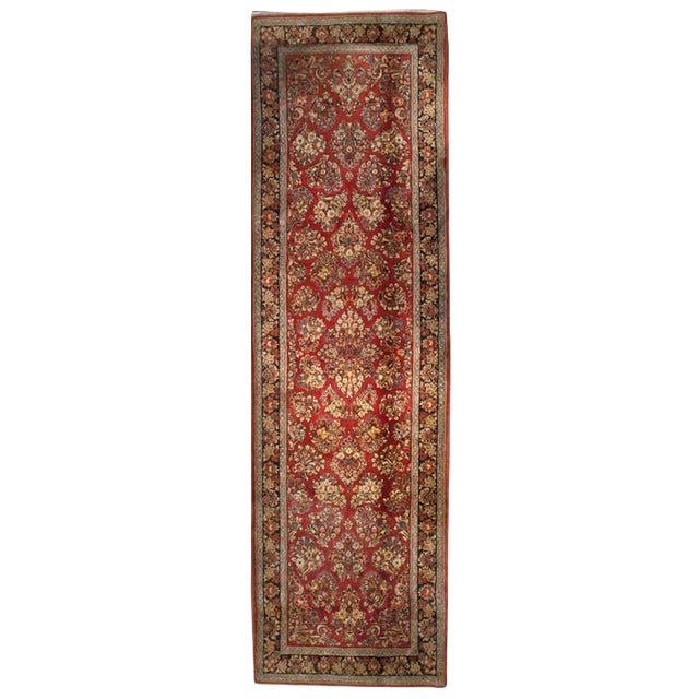 """Early 20th Century Sarouk Runner - 46"""" x 156"""" For Sale"""