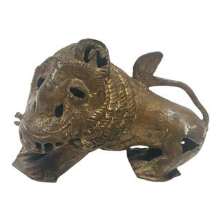 Antique Bronze of a Mythical Lion Beast For Sale