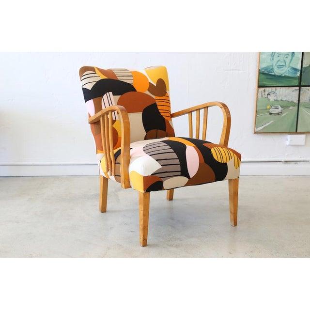 Marimekko Britta Maj on Vintage Swedish Armchair - Image 10 of 10