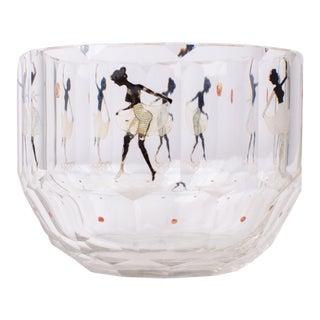 Steinschonau Haida Silhouette Bowl Attr. Adolf Beckert, C.1920 For Sale