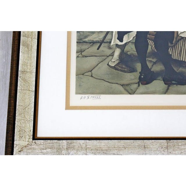 20th Century Framed Modern Illustration A.P. Litho Signed Norman Rockwell, 1936 For Sale In Detroit - Image 6 of 11