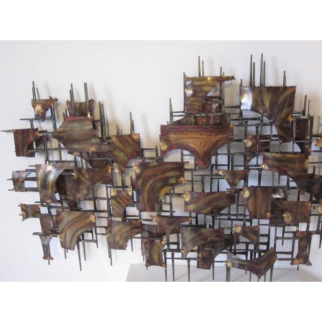 1950s Silas Seandel Styled Large Brutalist Wall Sculpture For Sale - Image 5 of 7