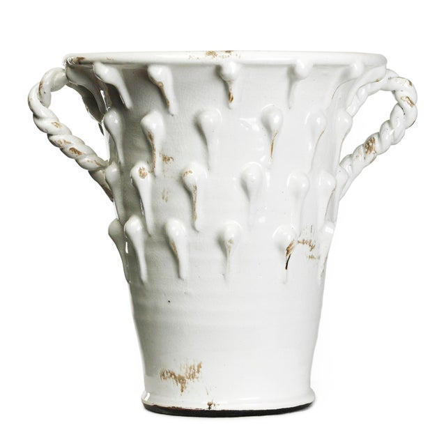 Transitional Armstrong White Pottery in White For Sale - Image 3 of 3