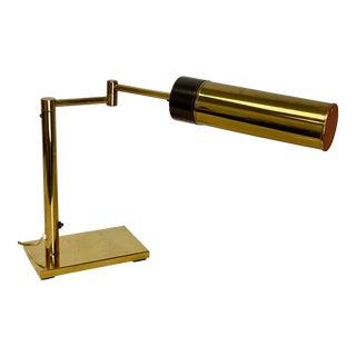 1960s Nessen Studio Lighting Brass Swing Arm Desk Lamp For Sale