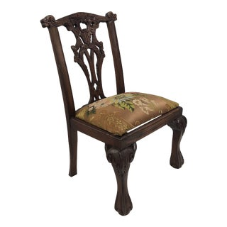 Vintage Child's Chair Upholstered With an 18th Century French Silk Textile For Sale