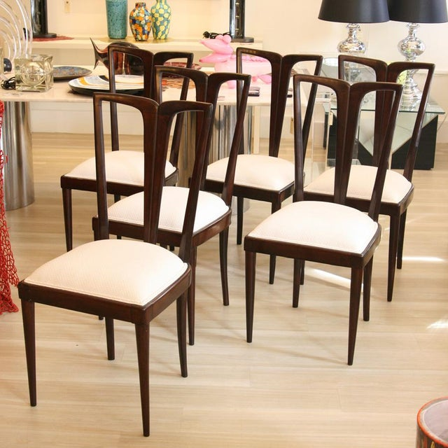 Osvaldo Borsani Osvaldo Borsani Dining Chairs - Set of 6 For Sale - Image 4 of 6