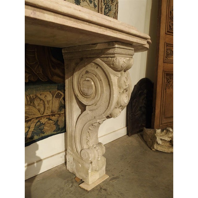 Marble Antique Marble Top Console Table from South-East France For Sale - Image 7 of 10