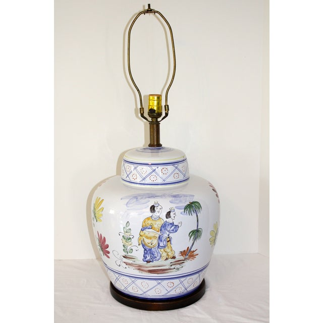 Frederick Cooper Hand-Painted Italian Lamp - Image 5 of 8