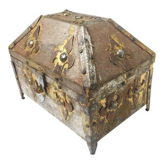 Victorian Hand Made Steel Treasure Chest