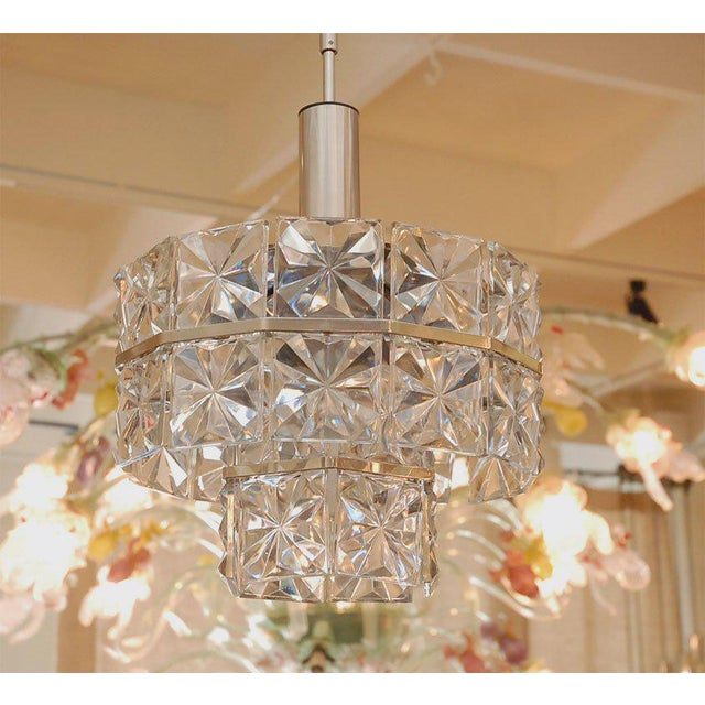 Mid-Century Modern 1960s Glass Chandelier For Sale - Image 3 of 8
