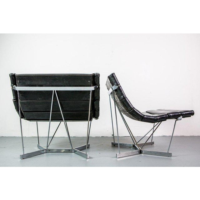 Mid-Century Modern Rare Pair of Catenary Chairs by George Nelson for Herman Miller For Sale - Image 3 of 7