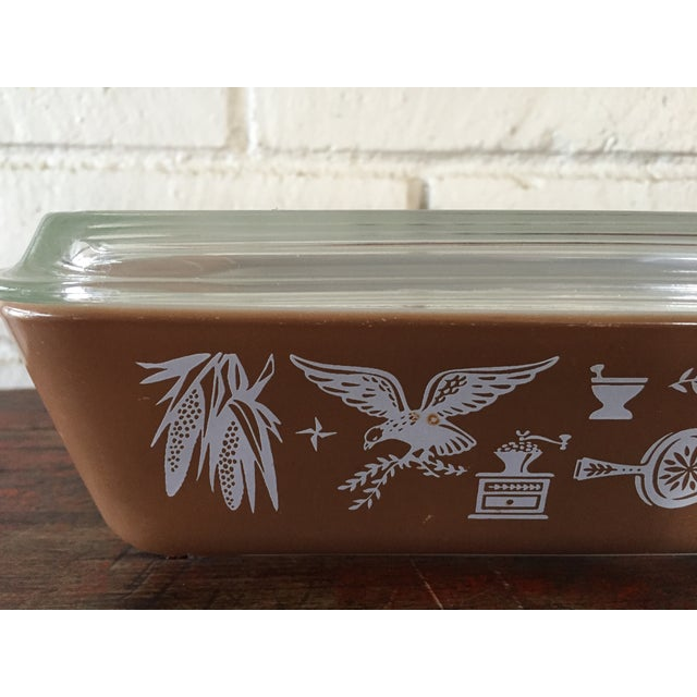 Country Pyrex Early American Refrigerator Dishes - S/4 For Sale - Image 3 of 7
