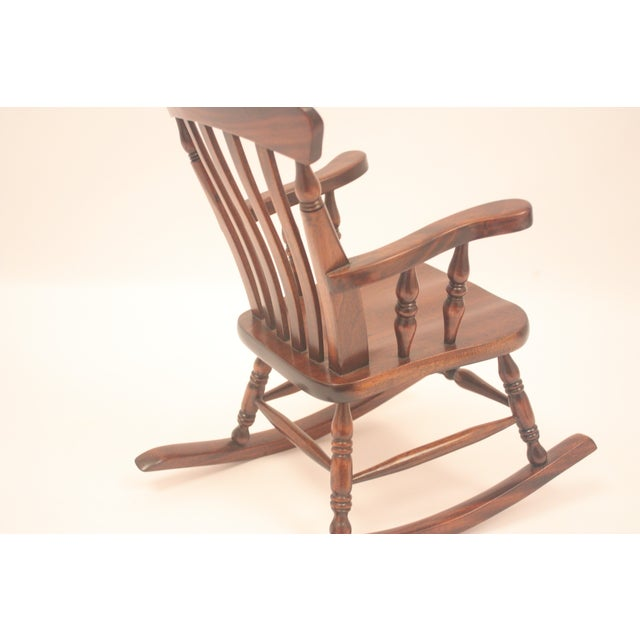 Winsor-Style Doll Rocking Chair - Image 6 of 6