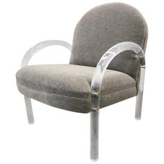 Pace Collection Lucite Armchair For Sale